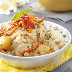 Try some exotic recipes like this Pineapple Curry Chicken!