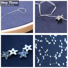 DIY: embroidered star map