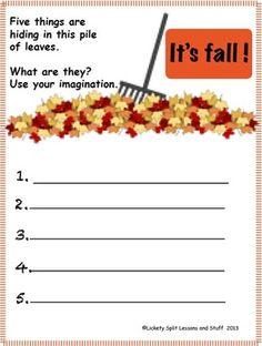 ***   I'm FREE!  Super Seasons Writing Prompts.  A prompt for each season plus a blue ribbon season, color words, and more.  10 pages.  FREE