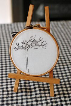embroidered Treehouse hoop from etsy shop @jenniesandford