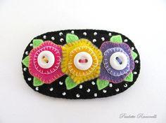 Felt Flower Pin - could be a sweet pincushion