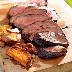 Cocoa-Chile-Rubbed Steak and Sweet Potatoes #myplate #summer