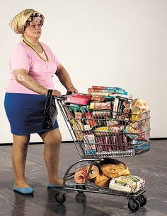 supermarket shopper  by Duane Hanson, 1970