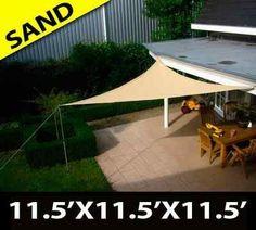 Triangle Sun Sail Shade Canopy Top Cover -:Amazon