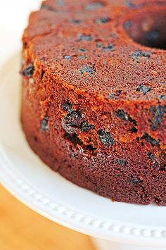 Spiced Beer Cake with Cherries and Pecans