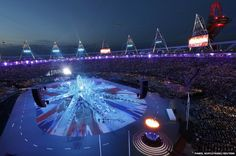 The Olympic Flame burns in the Olympic Stadium at the start of the closing ceremony of the London 2012 Olympic Games