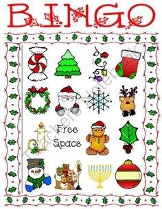 Holiday Bingo Set 2 from Miss Cherritt's Shop on TeachersNotebook.com (11 pages)  - Holiday Bingo