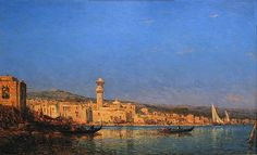 Felix Ziem (French, 1821-1911). Harbor, Tripoli, ca. 1890s. Charles and Emma Frye Collection, 1952.201