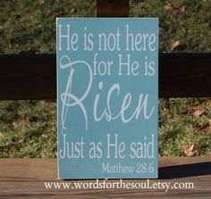 He is Risen Easter Matthew 286 Christian by WordsForTheSoul,