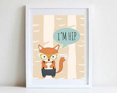 8x10 hipster fox birch tree woodland wall art i m hip ideas painting kitchen cabinets diy white tutorial