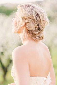 Loose braided updo: