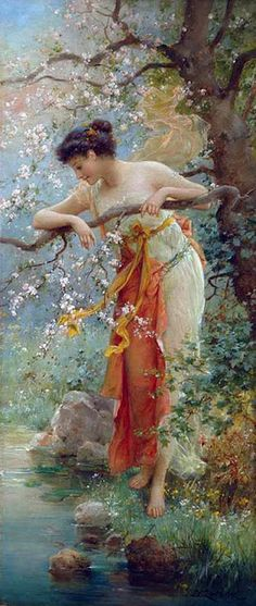painting  Hans Zatzka, 1859-1949 spring beauty