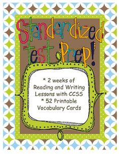 This is a two-week unit of study on preparing for standardized testing.  There are 20 mini lessons for both the reader's and writer's workshops.  Descriptive details and class chart examples are included for every lesson.  There are also vocabulary study cards and vocabulary practice cards available.  Give your students purpose and time to prepare for those tests we all love so much:)