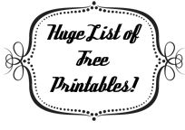 Free Printables - Huge List!