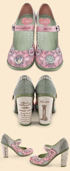 Zapatos Chocolaticas Doble Topping Marie Antoinette  If these fit and I had them I would wear day and night and to bed!!!