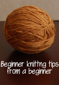 This Gal Knows: Beginner knitting tips from a beginner