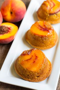 Bursting with peaches in every bite, these super moist and tender mini cakes will quickly become your favorite cake.