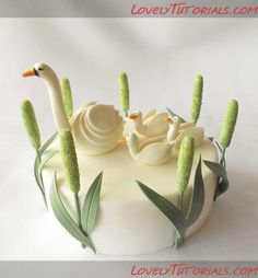 Swan cake topper step by step