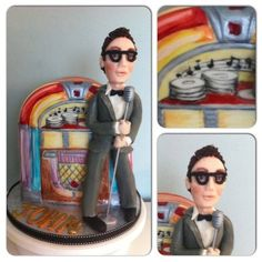 Buddy Holly cake Cake by Lilbeaucakes. Would love to have something like this for the musical BUDDY HOLLY - THE BUDDY HOLLY STORY when it comes to the Sacramento Community Center Theater December 27, 2013 - January 2, 2014. Love it! http://www.calmt.com/index.cfm?page=450660