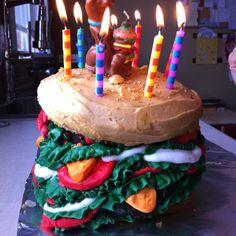 The Scooby Doo Hamburger Birthday Cake