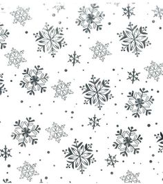 Sew Sweet Collection- Foil Snowflakes Sheer Fabric at Joann.com
