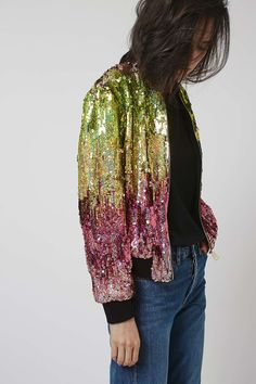 Ombre Sequin Bomber