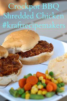 Shredded BBQ Chicken  #shop #KraftEssentials and #cbias