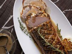 dinner, holiday, pork roast, pork loin, gravi, food, gravy, roast pork, recip