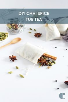 If you're feeling stressed (who isn't!), you'll love having a long soak in this DIY chai spice tub tea. Melt your tension away to the spicy scent of autumn!