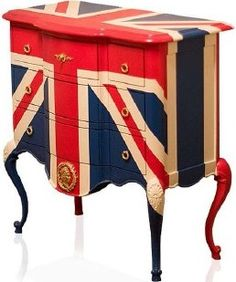 flag, paris apartments, old dressers, roll bedroom, rock n roll furniture, union jack furniture, rock bedroom