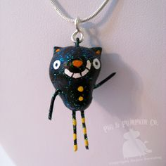 Ornament or Charm  Jasper the Cat   Mini by PigAndPumpkin on Etsy