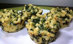 Mac & Cheese with Spinach Muffins