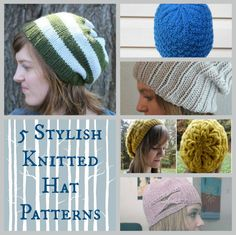 5 Stylish Knitted Hat Patterns