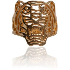 Kenzo Accessories Gold-Plated Tiger Ring ($115) ❤ liked on Polyvore