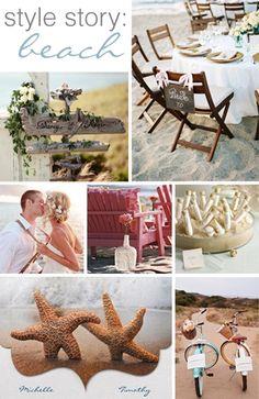 style story: beach wedding