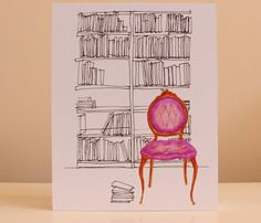 THE LIBRARY PRINT by NestaHome