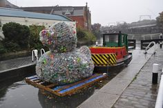 the rubbish duck, canal museum london