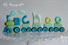 Choo Choo Train Fondant Cake Topper by SugarHighInc