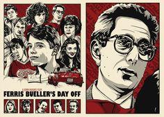 Ferris Bueller's Day Off poster work by Chris Morkaut, via Behance