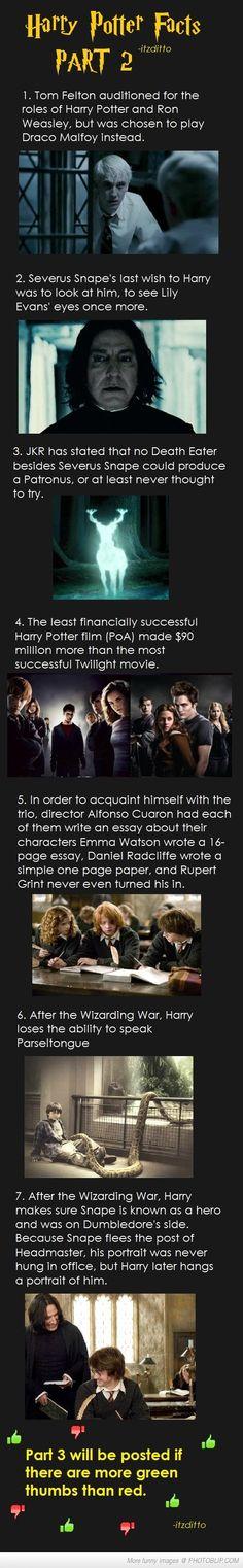 Harry Potter Facts Part 2