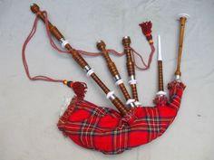 Madeira escocesa de Rosa do Bagpipe-Outros instrumentos musicais e ...