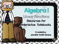 Algebra Notebook Bundle: Linear Functions from 4mulaFun on TeachersNotebook.com -  (51 pages)  - Algebra Notebook Bundle: Linear Functions