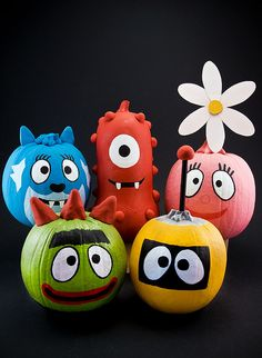 Yo Gabba Gabba Pumpkins by pairadocs, COLE'S 2nd BIRTHDAY IDEAS