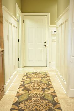 paneled hallway...love this for the entry from the garage.