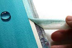 art blog, watercolor paintings, watercolor tip, art tutori, rita art, art instruct, artwat color, water drop, techniqu