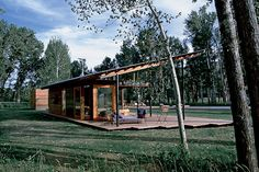 Indoor/outdoor living...love it!  pavillion by Lake/Flato Architects.