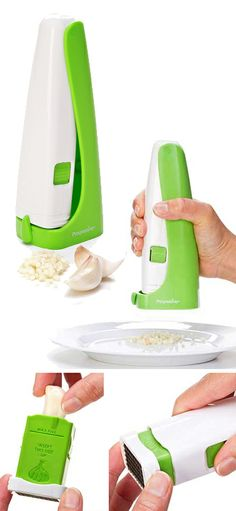 Garliq Garlic Press // simple sqeeze action garlic chopper #product_design