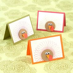 Turkey Thank-You Cards-Thanksgiving is a great time to send notes to anyone your child may be thankful for, including teachers, parents, friends, and even firefighters.