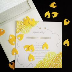 Bee themed baby shower...Grey+Scout Style