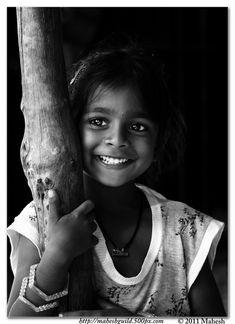 Smiling girl in India